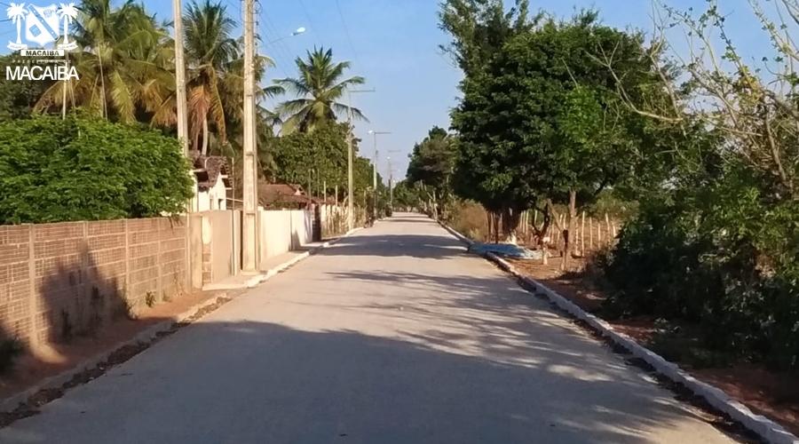 Prefeitura conclui nova obra de pavimentação em Riacho do Sangue |  Prefeitura de Macaíba